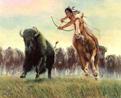 caccia bisonte