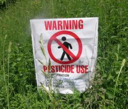 Pesticidi nei luoghi pubblici