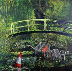 dipinto rifiuti riciclo